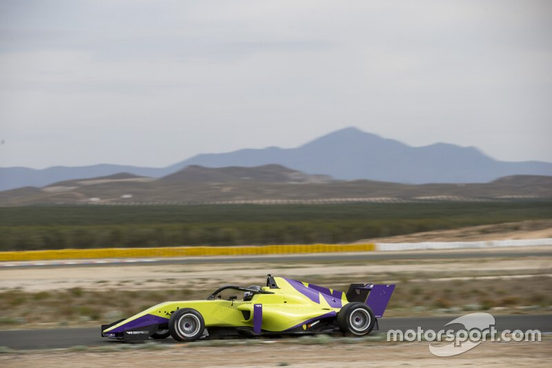 Track action in the W Series Tatuus F3 T-318 car