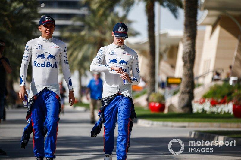 Alexander Albon, Toro Rosso y Daniil Kvyat, Toro Rosso