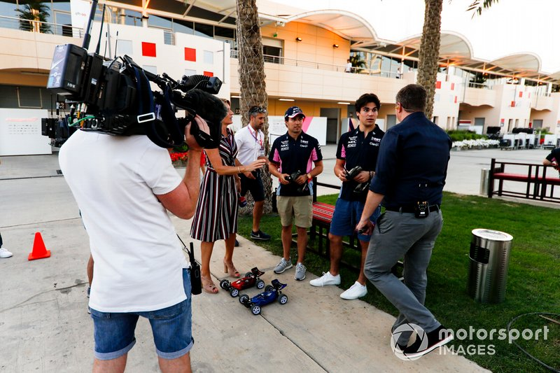 Rachel Brooks, Sky TV, Sergio Perez, Racing Point, Lance Stroll, Racing Point and David Croft, Sky TV