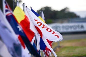 Un drapeau Toyota