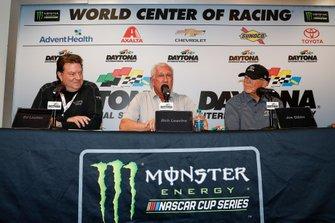 Ed Laukes, Group Vice President at Toyota North America, with Bob Leavine and Joe Gibbs