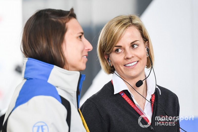 Susie Wolff, Team Principal, Venturi Formula E, Simona de Silvestro, ABB Ambassador