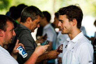 Tom Dillmann, NIO Formula E Team talks to the press