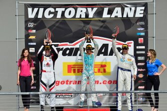 TA podium finishers Chris Dyson, Ernie Francis Jr., and Tomy Drissi