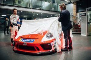 Presentazione della livrea della Porsche di Giovanni Berton, AB Racing