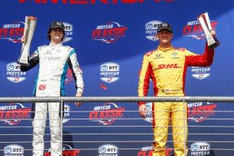 Colton Herta, Harding Steinbrenner Racing Honda, podium, Ryan Hunter-Reay, Andretti Autosport Honda