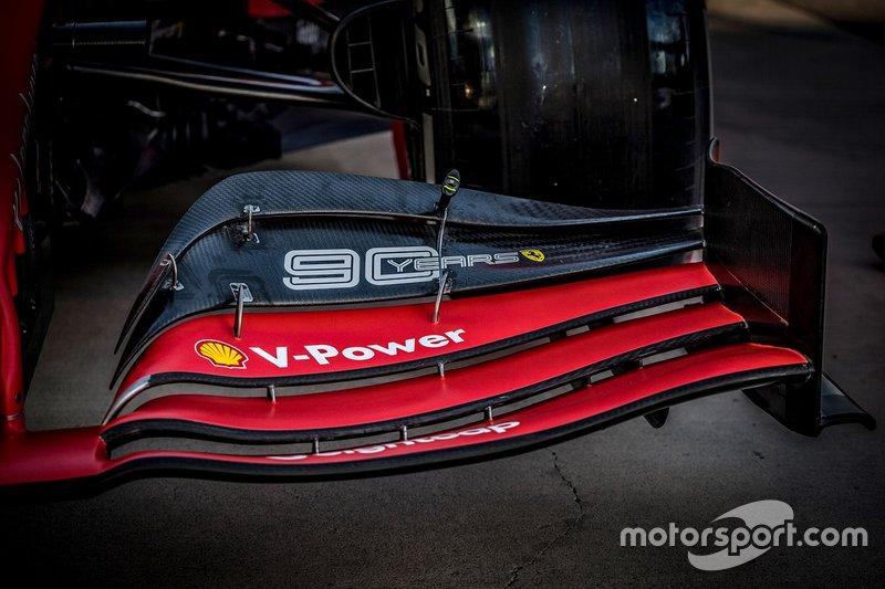 Ferrari SF90, detalhe da asa dianteira