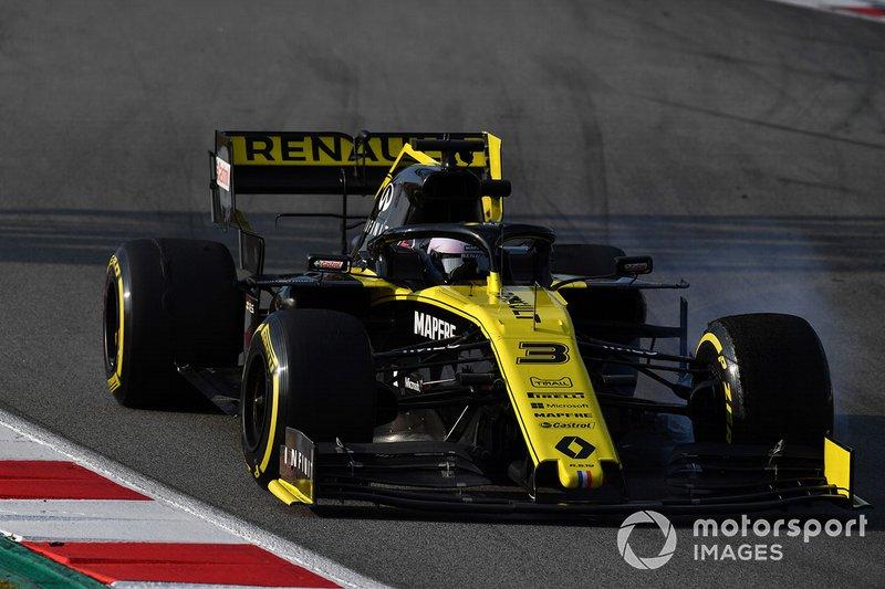 Daniel Ricciardo, Renault F1 Team R.S. 19, bloccaggio