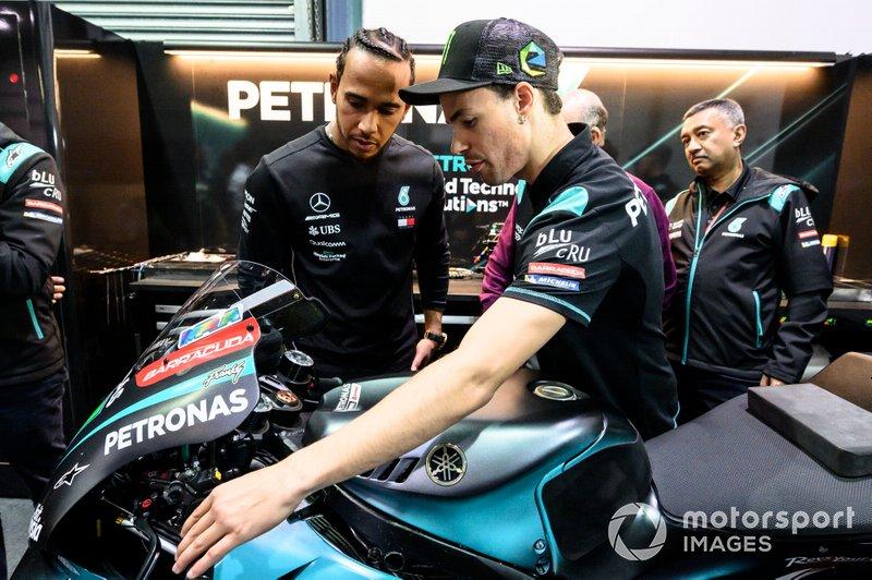 Franco Morbidelli, Petronas Yamaha SRT, Lewis Hamilton, Fabio Quartararo, Petronas Yamaha SRT
