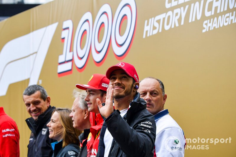 Lewis Hamilton, Mercedes AMG F1 at the 1000th Race Official Photograph