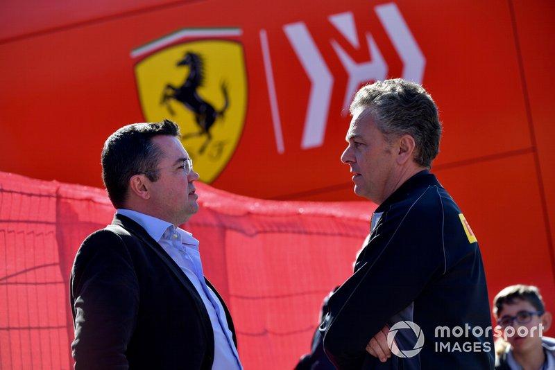 Eric Boullier et Mario Isola, Pirelli Motorsport