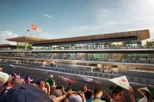 Hanoi circuit starting grid and pitlane rendering