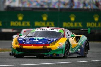 #13 Via Italia Racing Ferrari 488 GT3, GTD: Chico Longo, Victor Franzoni, Marcos Gomes, Andrea Bertolini