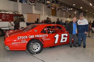 NHOF driver Jerry Cook stands next to Butch Lindley car