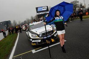 Grid girl of Daniel Rowbottom, Ciceley Motorsport Mercedes
