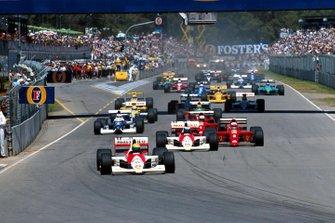 Ayrton Senna, McLaren mène au départ