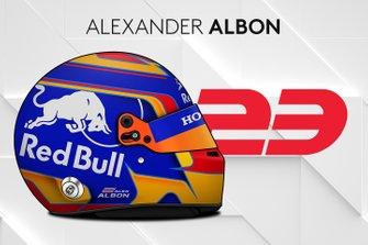 Le casque 2019 d'Alexander Albon