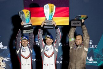 Podium GTLM: Winner #91 Porsche GT Team Porsche 911 RSR: Richard Lietz, Gianmaria Bruni