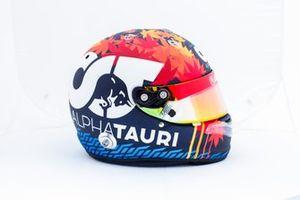 Helmet of Yuki Tsunoda, AlphaTauri