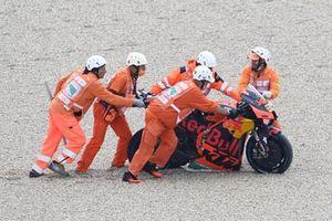 La moto de Brad Binder, Red Bull KTM Factory Racing tras su caída