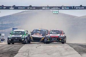 Krisztián Szabó, GRX-SET World RX Team Hyundai i20, Kevin Hansen, Hansen World RX Team Peugeot 208, Niclas Grönholm, GRX-SET World RX Team Hyundai i20