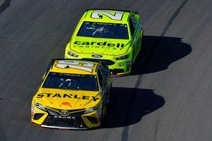 Daniel Suarez, Joe Gibbs Racing, Toyota Camry STANLEY and Paul Menard, Wood Brothers Racing, Ford Fusion Menards / Cardell