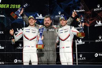 Podyum GT Pro: Yarış galibi #92 Porsche GT Team Porsche 911 RSR: Michael Christensen, Kevin Estre