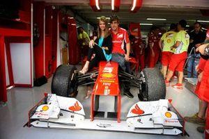 Fernando Alonso with his girlfriend Dasha Kapustina