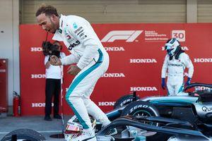Lewis Hamilton, Mercedes AMG F1, festeggia la vittoria