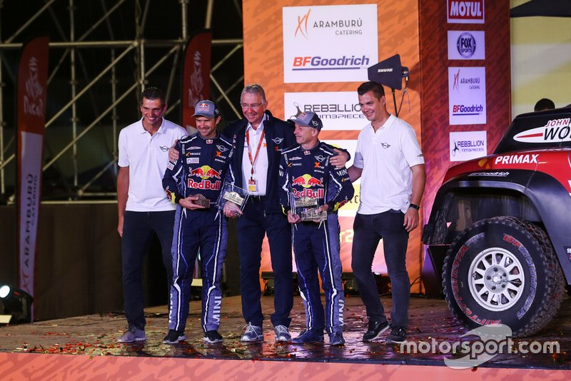 Podium: X-Raid Mini JCW Team: Cyril Despres, Jean-Paul Cottret