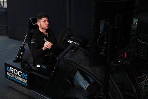 Enzo Bonito practices on an eROC Simulator