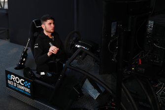 Enzo Bonito practices on an eROC Simulator