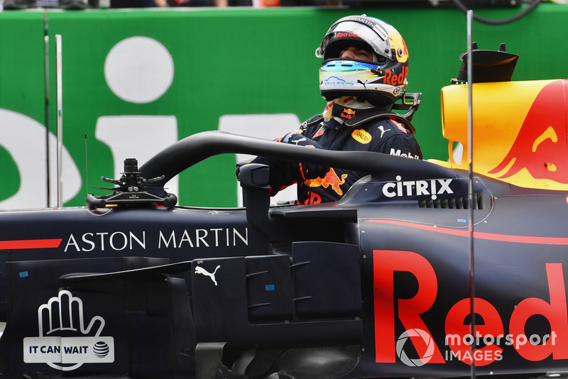 Daniel Ricciardo, Red Bull Racing RB14 in parc ferme