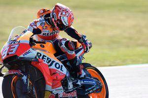 La moto endommagée de Marc Marquez, Repsol Honda Team
