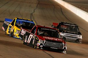 Tyler Ankrum, DGR-Crosley Toyota Tundra May's Hawaii / Crosley Brands / DGR CROSLEY and Grant Enfinger, ThorSport Racing, Ford F-150 Protect The Harvest/Curb Records