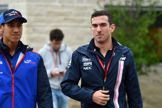 Sean Gelael, Scuderia Toro Rosso y Nicholas Latifi, Racing Point Force India F1