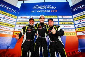 Podio: #15 RLR Msport Ligier JS P3 - Nissan: John Farano, Job Van Uitert, Robert Garofall