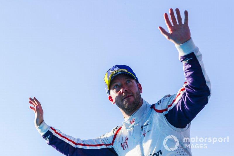 Robin Frijns, Envision Virgin Racing, 2° classificato, festeggia nel parco chiuso