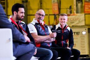 Dino Zamparelli, James MacNaughton and Dan Harper talk Porsche on the stage