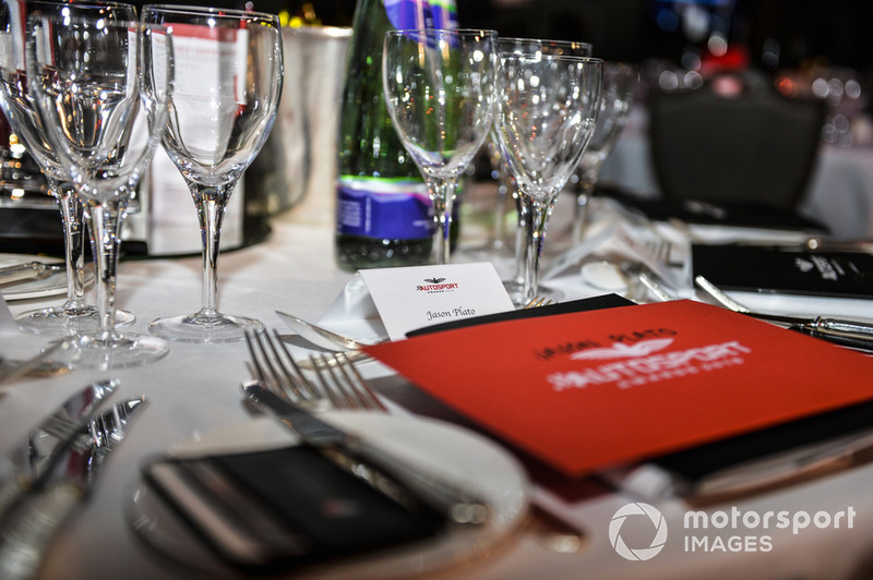Table setting for Jason Plato
