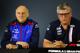 Franz Tost, Scuderia Toro Rosso, en Otmar Szafnauer, Racing Point Force India