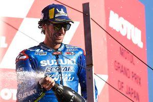 Podio: il terzo classificato Alex Rins, Team Suzuki MotoGP