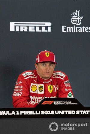Yarış galibi Kimi Raikkonen, Ferrari, basın toplantısı