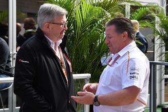 Ross Brawn, Formula One Managing Director of Motorsports en Zak Brown, McLaren Racing CEO