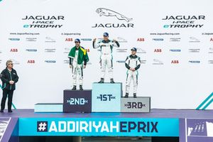 Podio classe PRO: il vincitore della gara Simon Evans, Team Asia New Zealand PRO, il secondo classificato Sérgio Jimenez, Jaguar Brazil Racing, il terzo classificato Bryan Sellers, Rahal Letterman Lanigan Racing
