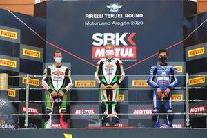 Jeffery Buis, MTM Kawasaki Motoport, Scott Deroue, MTM Kawasaki Motoport, Bahattin Sofuoglu, Biblion Motoxracing Yamaha WorldSSP300