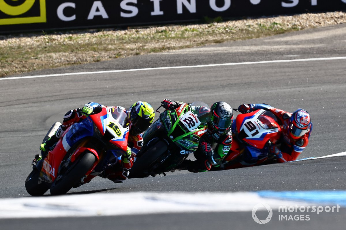 Alvaro Bautista, Team HRC, Alex Lowes, Kawasaki Racing Team, Leon Haslam, Team HRC
