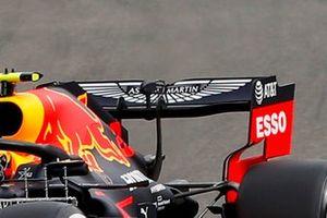 Alex Albon, Red Bull Racing RB16 rear wing detail