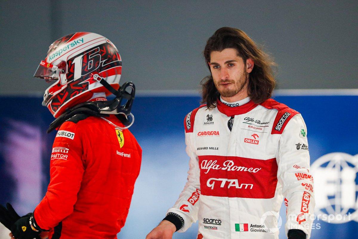 Charles Leclerc, Ferrari, Antonio Giovinazzi, Alfa Romeo