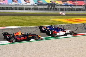 Dennis Hauger, Hitech Grand Prix , Michael Belov, Charouz Racing System et Clement Novalak, Carlin